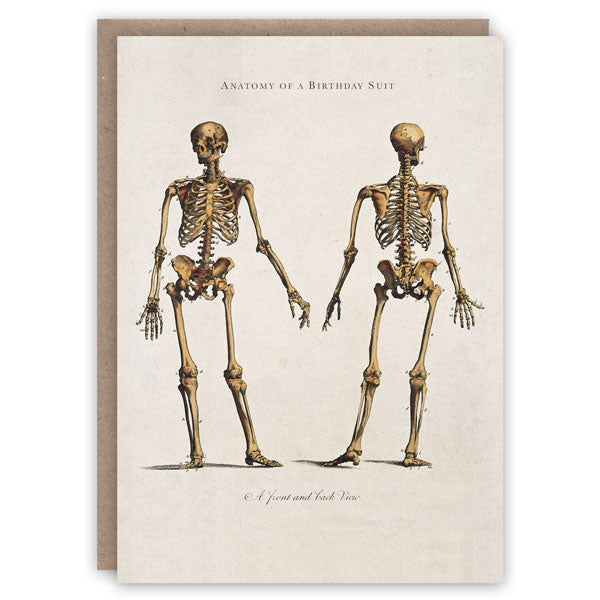 Anatomy of a birthday suit greeting card