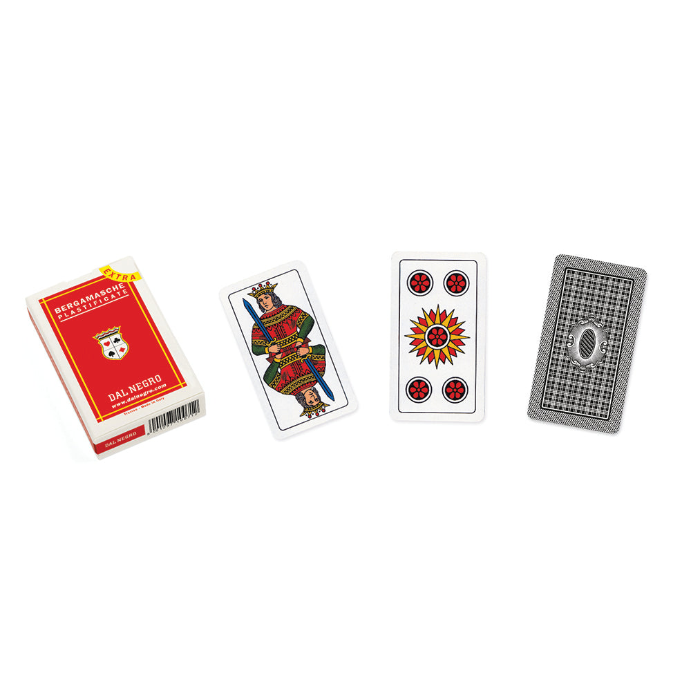 Italian Bergamo regional playing cards (red)