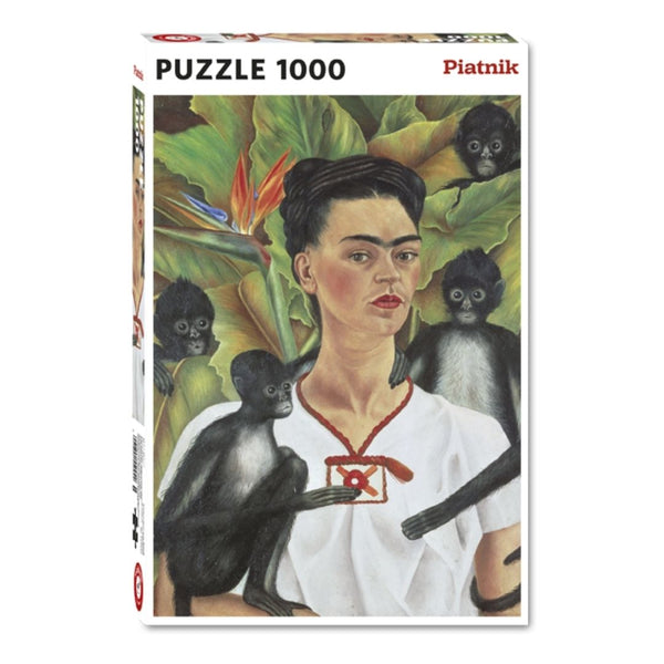 Frida Kahlo self portrait jigsaw puzzle (1000px)