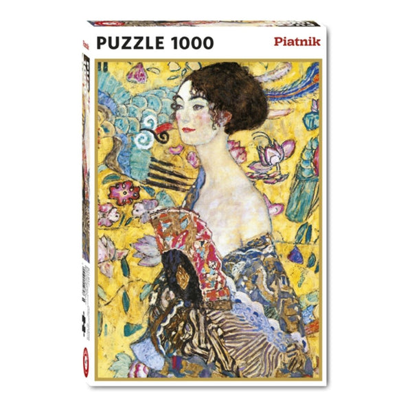 Lady with a Fan by Klimt jigsaw puzzle (1000px)