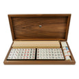 Walnut case mah jong set (acrylic tiles)