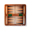 Backgammon playing area on the interior. (Small size.)