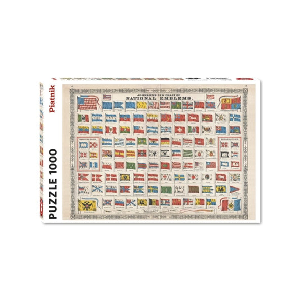 National Flags jigsaw puzzle (1000px)