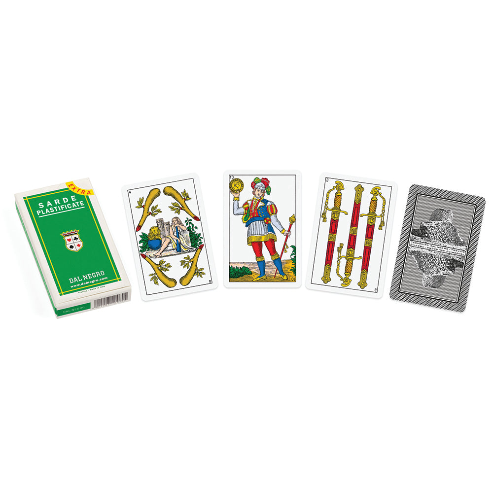 Italian regional playing cards: Sardinia (green)