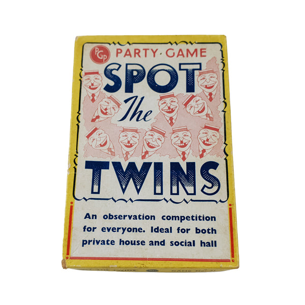Spot the twins party game PGP - 1950s