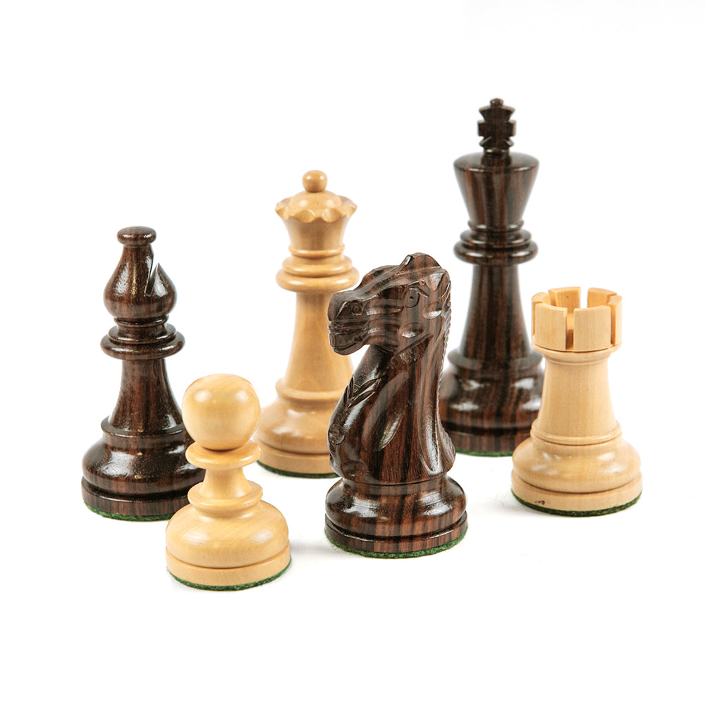 Hertford chess pieces: Staunton style in double-weighted rosewood and boxwood