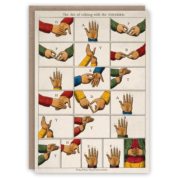 Talking fingers greeting card