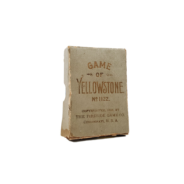The game of yellowstone 5 side game company (Bicycle prescursor) card game - 1898