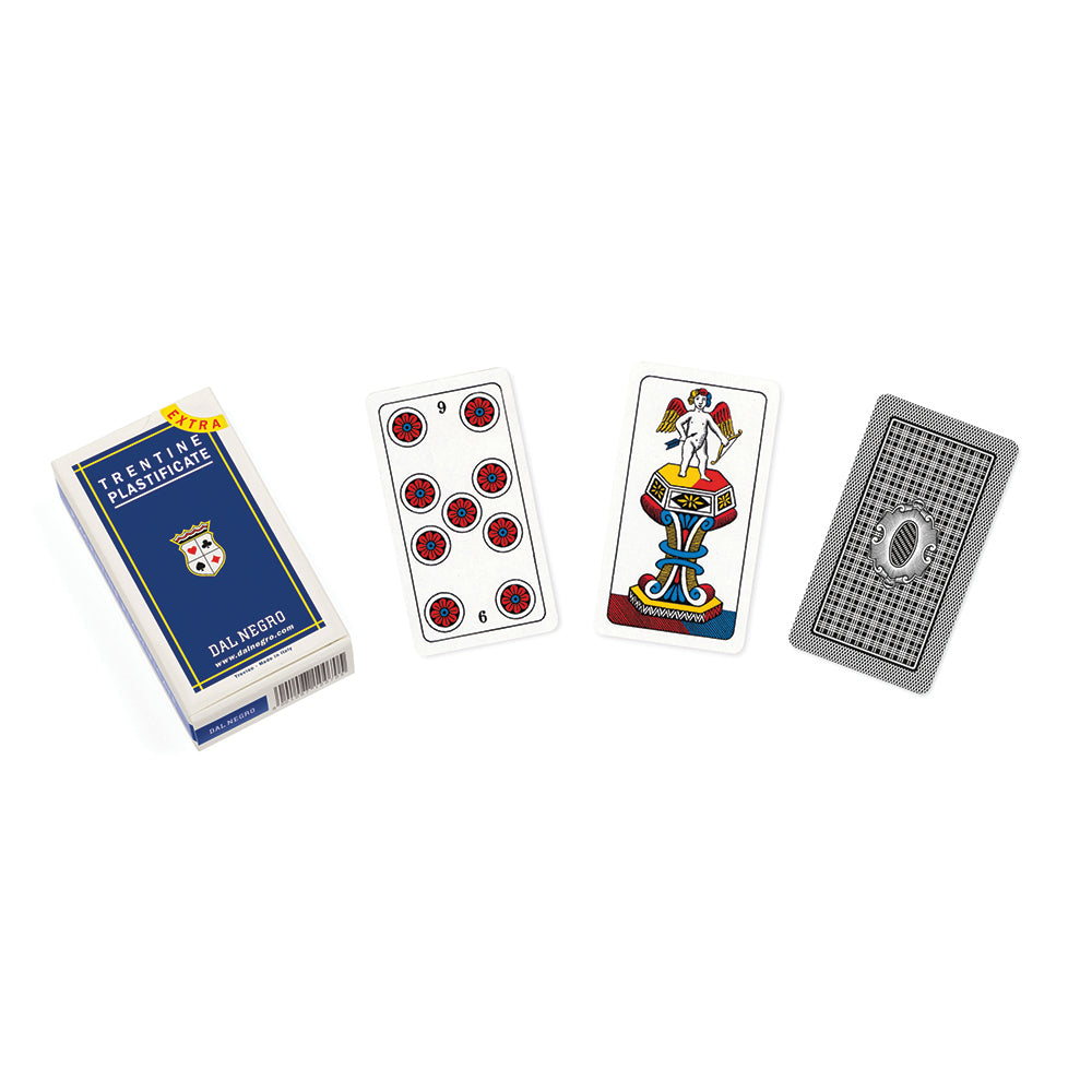 Italian regional playing cards: Trentino (blue)