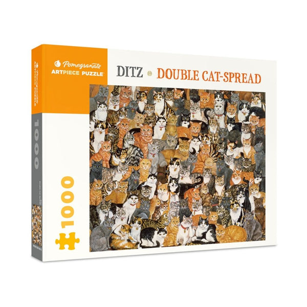 Ditz: Double Cat Spread jigsaw puzzle (1000px)