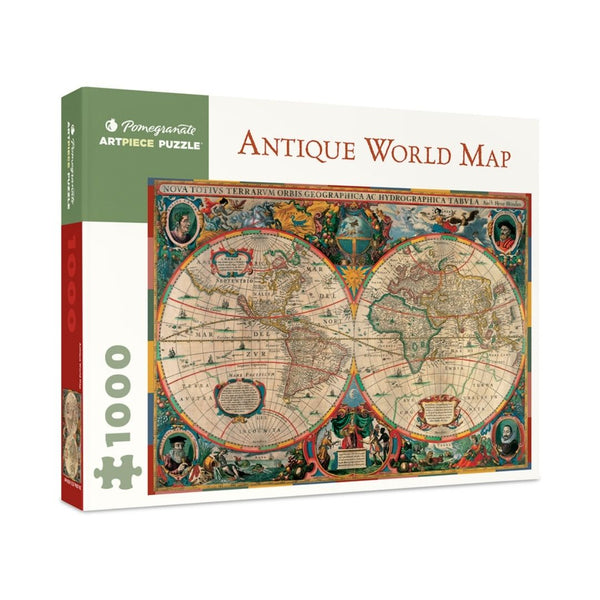 Antique World Map jigsaw puzzle (1000px)
