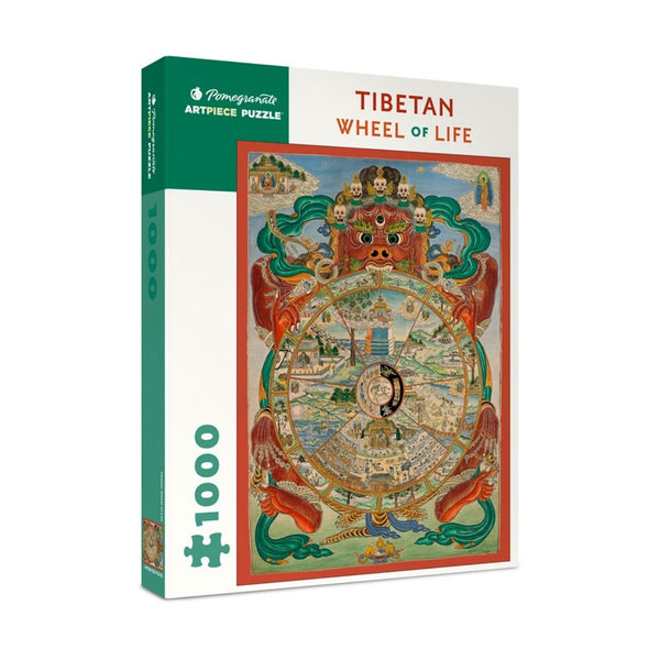 Tibetan Wheel of Life jigsaw puzzle (1000px)