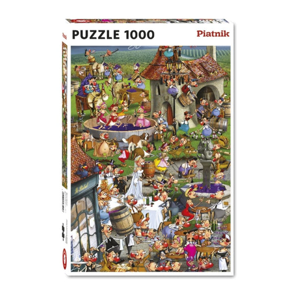 The story of wine cartoon jigsaw puzzle (1000px)