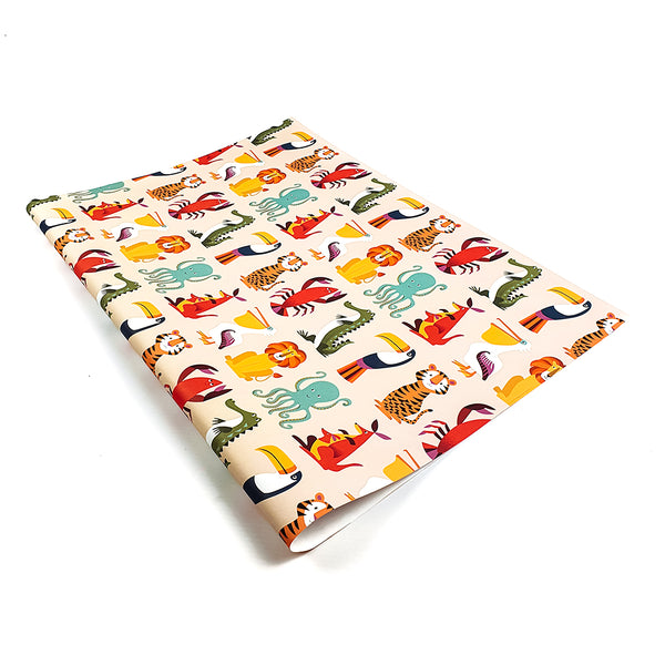 Animals wrapping paper