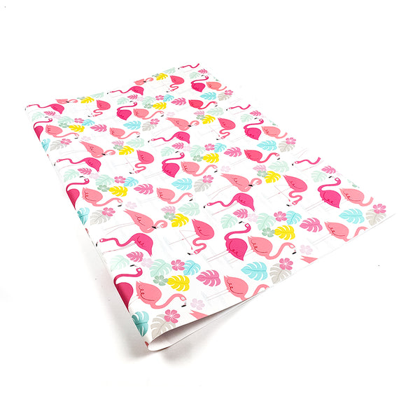 Flamingo wrapping paper