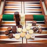 Canterbury travel split chess/backgammon set with folding board: magnetic