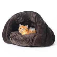 Load image into Gallery viewer, Small Half Cover Nest Bed - FunnyPaws