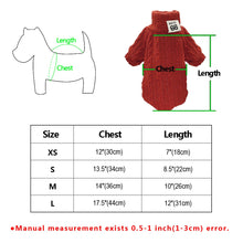 Load image into Gallery viewer, Knitted TurtleNeck Sweater Size Chart