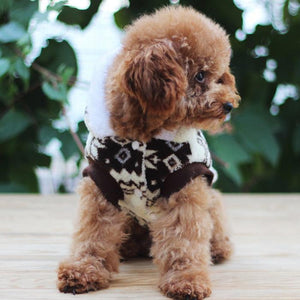 Cuttie puppy wearing  Christmas cotton Coat Clothes dogs US
