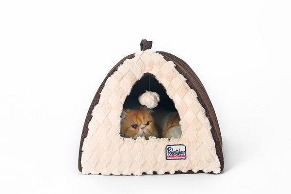 Small Dog House  with Pillow Easy to Fold and Wash - FunnyPaws