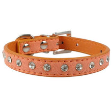 Load image into Gallery viewer, Rhinestones Diamante  Leather Collars - FunnyPaws