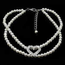 Load image into Gallery viewer, White Pearl Necklace - FunnyPaws