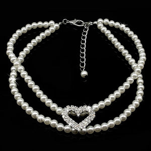 White Pearl Necklace - FunnyPaws