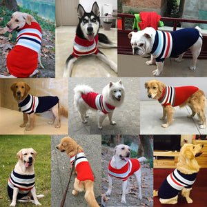 fashionable&warm stripped coat in dog clothes - FunnyPaws