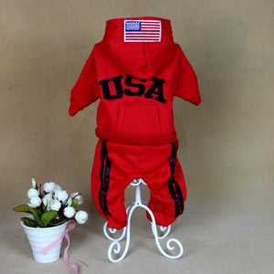 Red dog clothes jumpsuit USA New jersey