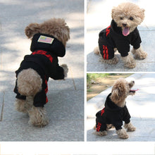 Load image into Gallery viewer, Happy funny dog wearing clothes jumpsuit