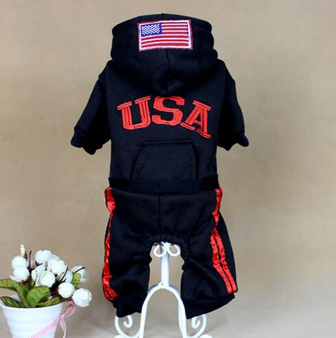 black USA Clothe jumpsuit flag