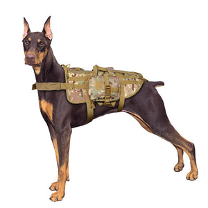 Military Tactical Dog Harness with Detachable Pouches - FunnyPaws