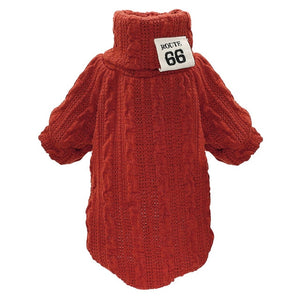 Red roll-neck Sweater  for chihuahua dogs