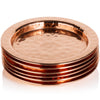 Copper Coaster x 1 Handmade with 100% Copper & 11cm in Diameter - Hammered Style Coasters/Mats in Gift Box Dining Table Protection from Mugs, Glasses, Bottles & Cups
