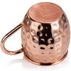 Moscow Mule Copper Mug x 1 - Handmade with 100% Copper - 18oz Barrel Style Mugs with Hammered Effect in Gift Box - Kitchen Cup for Drinking, Dining & Entertaining