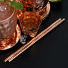 "Reusable Copper Straw x 1 Handmade Eco-Friendly with 100% Copper (No Lining & No Seam) Long & Thick 7.5"" Metal Re-Usable Drinking Straws in Gift Box Can be Used with Mugs, Glasses, Bottles, Cans Cups"