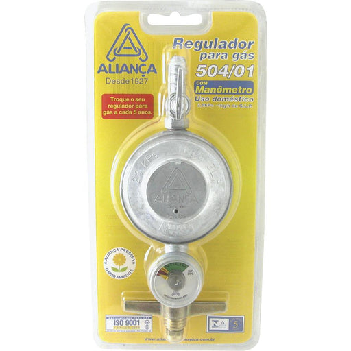 Regulador Gás 504/01 Blister aliança Regulador ALIANCA