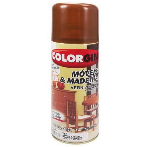 Spray Colorgin Natural Verniz Brilho - Ferragem Thony