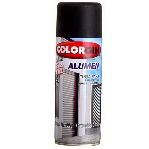 Spray Alumen Preto Fosco 773 Spray COLORGIN