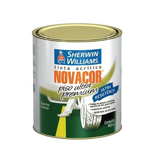 Tinta Novacor Piso Ultra Amarelo Demarcação 900ml Tinta Sherwin Williams