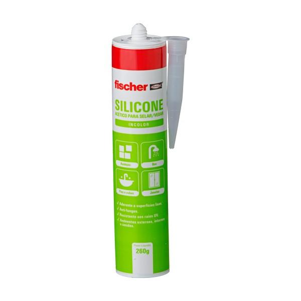 Silicone Acético DMS Incolor 260ml Silicone FISCHER