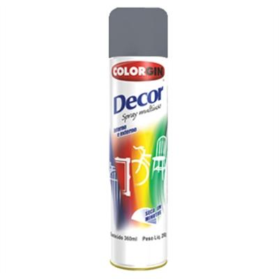 Spray Colorgin Decor Metalico Grafite Medio 866 - Ferragem Thony