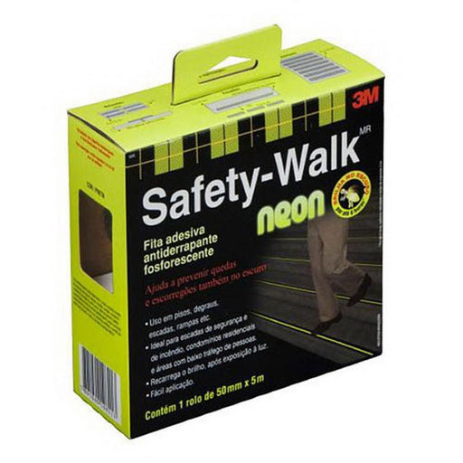 Fita Antiderrapante Fosforescente 50mm x 5m Safety-Walk - Ferragem Thony