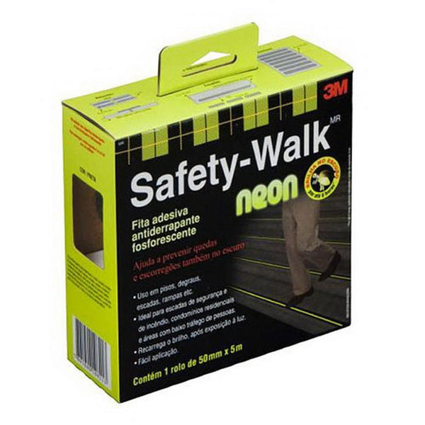 Fita Antiderrapante Fosforescente 50mm x 5m Safety-Walk Fita 3M