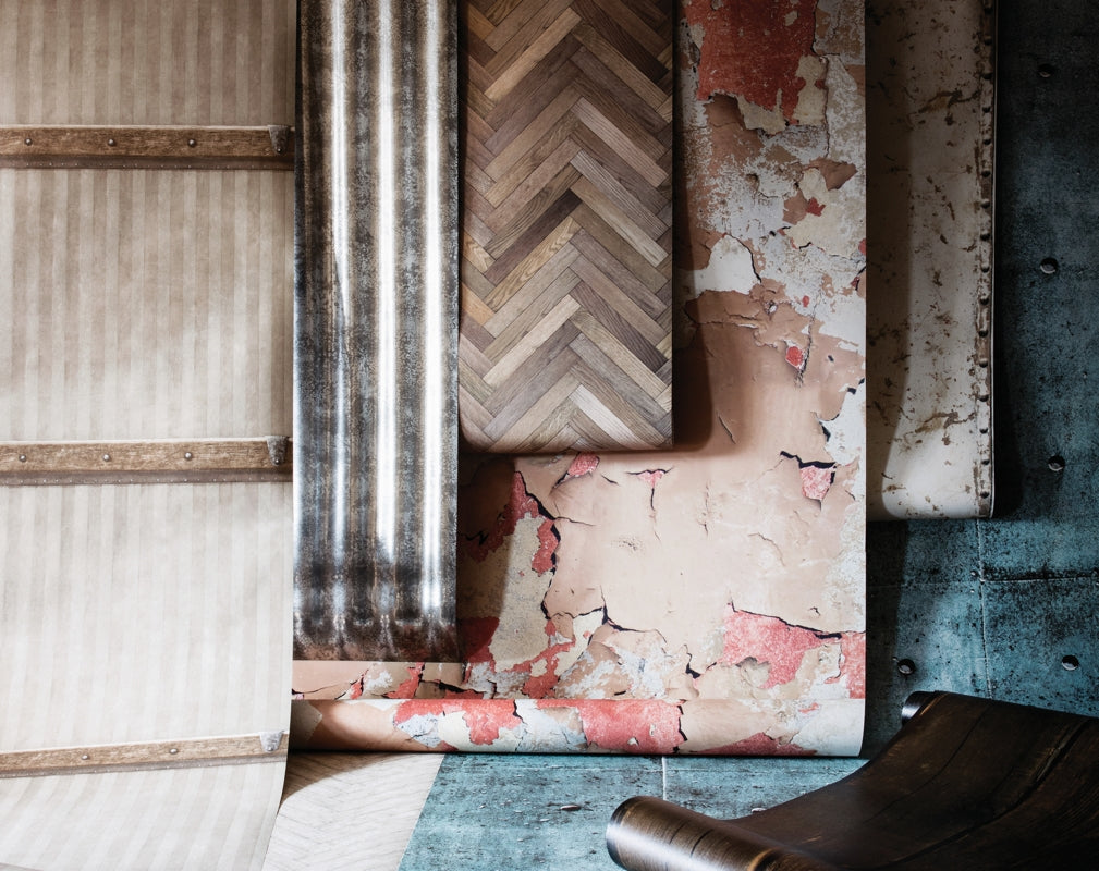 A selection of wallpaper designs featured in Warehouse Home Issue Three. Photograph by Oliver Perrott