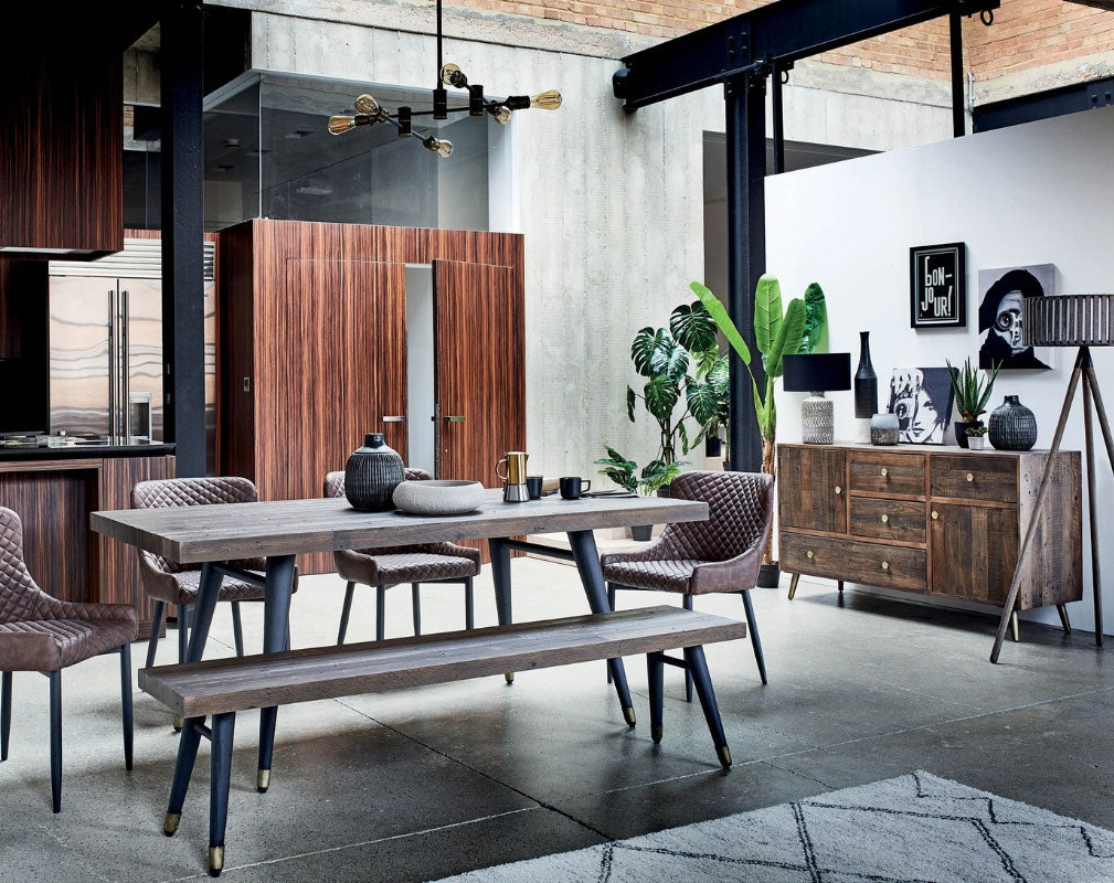 Barker & Stonehouse 'Wonder Years' Industrial Style Homewares Collection - dining table and chairs