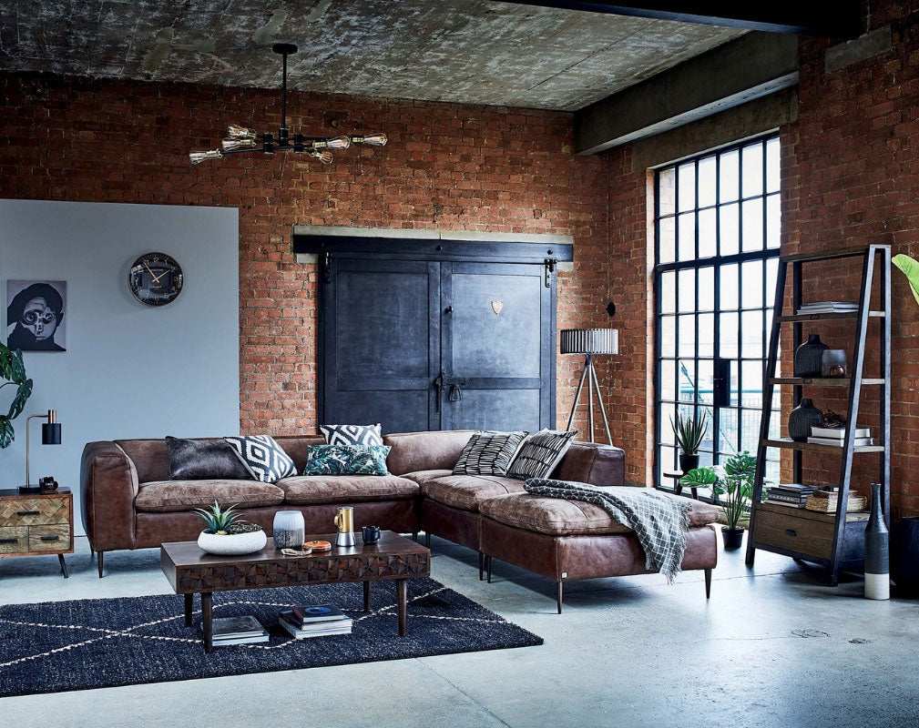 Wonder Years collection of industrial style homewares from Barker & Stonehouse in a warehouse setting