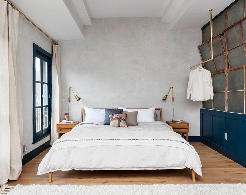 guest bedroom of lokal hotel warehouse conversion in philadelphia