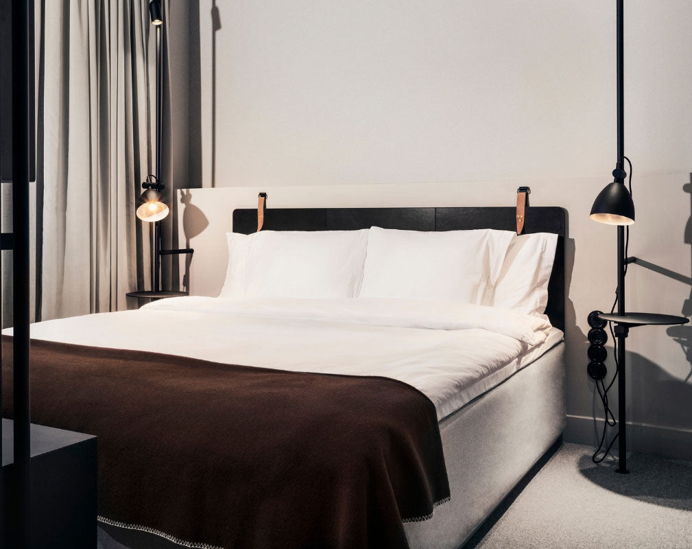 Blique by Nobis is a contemporary design hotel in Stockholm in a converted warehouse - bedroom