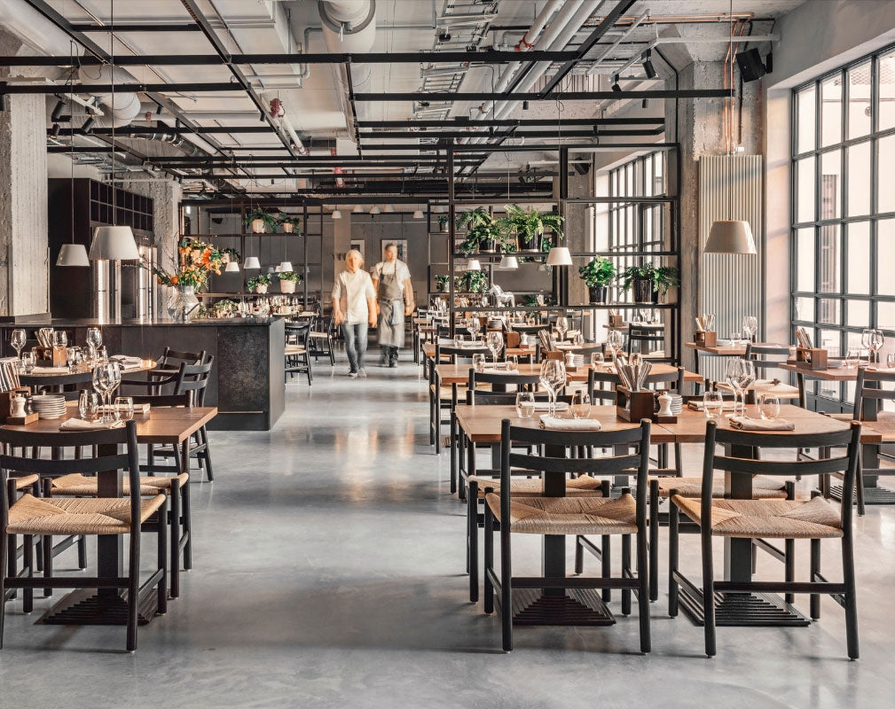 Blique by Nobis contemporary design hotel in Stockholm in a converted warehouse - Restaurant